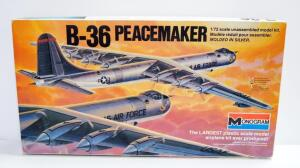 Monogram B-36 Peacemaker 1:72 Scale Model Airplane, With Instructions, Contents Unopened