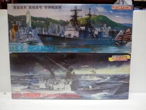 Dragon USS Spruance And USS Ingersoll 1:350 Scale Model Ships, Both In Sealed Boxes