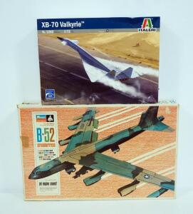 Monogram B-52 Stratofortress Model Plane And Italeri XB-70 Valkyrie Model Plane, Both 1:72 Scale And With Instructions