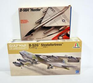 Italeri B-52G Stratofortress And Italeri Convair B-58A Hustler Model Airplanes, Both 1:72 Scale, Unopened Contents And With Instructions