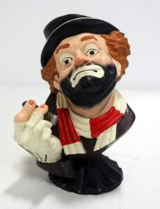 "Red Skelton's ""Freddie The Freeloader"" Statuette, Stamped Signatures On Bottom"