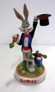 "Bugs Bunny ""That's 50 Folks!"" Limited Edition Ceramic Figurine, Numbered 659/ 5,000, 11"" High"