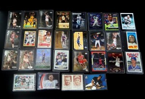 Sports Player Card Collection, Includes Football, Kobe, Shaq, Jordan, Rookies, Basketball And Baseball, Unsorted, Uncounted