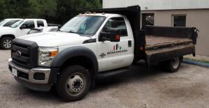 2013 Ford F-450 Super Duty PickUp Truck With 12' Hydraulic Dump Bed, VIN# 1FDUF4GTXDEB62150, Mileage Showing On Odometer 31,618.8