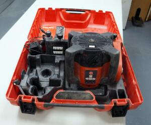 Hilti Rotating Laser Model # PR35 And Accessories Including Instruction Manual And Carrying Case