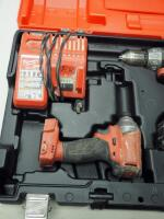 "Milwaukee M18 Cordless 1/2"" Hammer Drill/Driver And Hex Impact Driver, Includes Battery Charger, Battery And Carrying Case - 2"