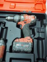 "Milwaukee M18 Cordless 1/2"" Hammer Drill/Driver And Hex Impact Driver, Includes Battery Charger, Battery And Carrying Case - 3"