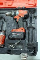 "Milwaukee M18 Cordless 1/2"" Hammer Drill/Driver And Hex Impact Driver, Includes Battery Charger, Batteries And Carrying Case - 2"