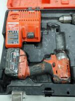 "Milwaukee M18 Cordless 1/2"" Hammer Drill/Driver And Hex Impact Driver, Includes Battery Charger, Batteries And Carrying Case - 3"