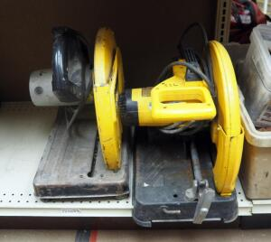 "DeWalt 14"" Chop Saws Qty 2, Models DW870 And D28700"