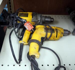 "DeWalt 1/2"" Variable Speed Drill Model DW130V And 3/8"" Electric Drill Model D1002"