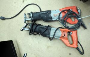 Milwaukee Sawzall Electric Reciprocating Saws, Qty 2