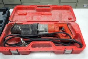 Milwaukee Orbital Super Sawzall Electric Reciprocating Saw Model 6536-21 With Carrying Case