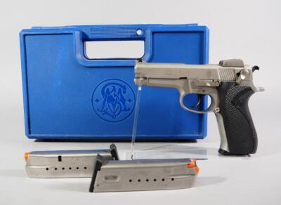 Smith & Wesson Model 5906 9mm Para Pistol SN# TDU1491, 3 Total Mags, In Original Hard Case