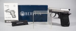 Beretta Model 21A Bobcat .22 LR Pistol SN# DAA414508, 2 Total 7-Rd Mags, Unfired, With Paperwork, In Original Box