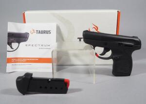 Taurus Spectrum 380 .380 Auto Pistol SN# 1F012498, 2 Total Mags, With Manual, In Original Box