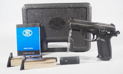 FNH FNP-9 9mm Pistol SN# 61BMP12688, 3 Total Mags, With Manual, In Original Hard Case