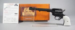 Heritage Rough Rider .22 Cal 6-Shot Revolver SN# V59457, Single Action, Faux Ivory Grips, With Paperwork, In Original Box