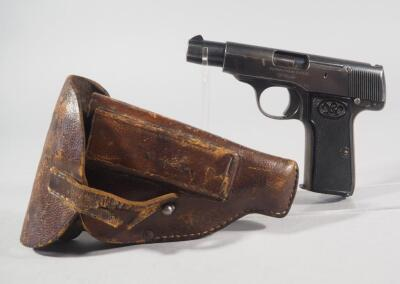 Walther Model 4 32/7.65mm Pistol SN# 265456, With German WWI Army Holster Dated 1917