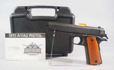 Rock Island Armory M1911 A1-FS Govt Model .38 Super Pistol SN# RIA2124230, New, With Paperwork, In Original Hard Case