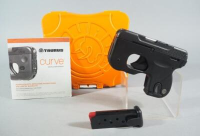 Taurus Curve .380 Auto Pistol SN# 1D112303, New, 2 Total Mags And Paperwork, In Original Hard Case