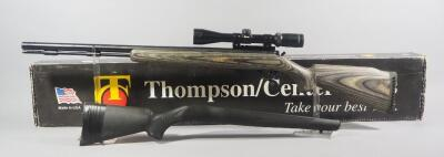 Thompson/Center Arms .45 Cal Black Powder Rifle SN# 18784, With Burris 3x-9x Fullfield II Scope, Original Composite Stock Included, In Box