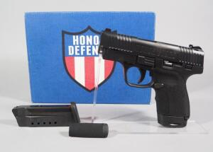 Honor Defense Honor Guard 9mm Pistol SN# 0002993, New, 2 Total Mags, In Original Box