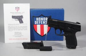 Honor Defense Honor Guard 9mm Pistol SN# 0003644, New, 2 Total Mags, In Original Box