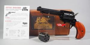 "Heritage Rough Rider .22 LR 6-Shot Revolver SN# 3HR002051, New, Birdshead Grip, 4.75"" Bbl, With Extra .22 WMR Cylinder And Paperwork, In Original Box"
