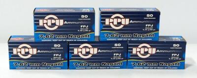 7.62 Nagant Ammo, Approx 250 Rounds, Local Pickup Only
