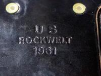 US Rockwelt 1961 Leather Mag Pouches Qty 2 And Don Hume Leather Small Cartridge Holster - 3