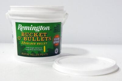 Remington Bucket O' Bullets .22LR Golden Bullet Ammo, Uncounted, Local Pickup Only