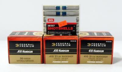 Federal .410 Handgun Ammo, Approx 60 Shells And CCI .38/357 Shot Shells 10 Rds, Local Pickup Only