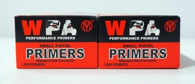 WPA Small Pistol Primers, Approx 2000, Local Pickup Only