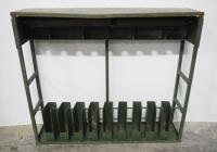 "Metal Military Style Long Arm Rack, Holds 9 Long Arms, 43.5"" High x 51"" Wide x 12"" Deep"