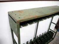 "Metal Military Style Long Arm Rack, Holds 9 Long Arms, 43.5"" High x 51"" Wide x 12"" Deep - 4"