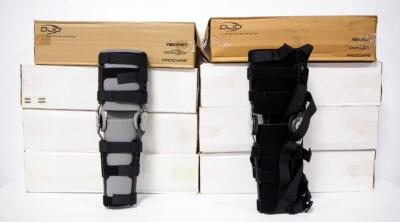 Collection Of Post-Op Knee Braces, Includes DonJoy Enhanced Irom Cool, Enhanced ELS And Ski Armor Ligament Knee Brace, Qty 8