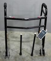 Roscoe Heavy Duty Deluxe 2-Button Walker With Wheels, Includes Spare Legs