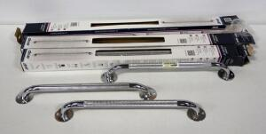 "Chrome Grab Bars, 32"" (3) And 19"" (3), Total Qty 6"