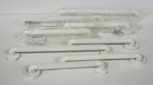 "SP Ableware 18"" (5) And 24"" (3) Grab Bars, Total Qty 8"