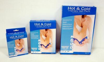 "Roscoe Hot And Cold Therapy Gel Packs, Sizes 5""x10"", 7.5"" x 11"" And 11"" x 14"""
