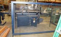 "Flex Point Robot, Model 2436, Automatic Flexpoint Instation Of Points Frame Manufacturing Machine, Includes Heavy Duty Metal Stand, Plexiglass Enclosure, Monitor, Keyboard, And Metal Safety Cage, Machine Measures 66"" x 164"" x 93"", Safety Cage Measures 65"" - 12"