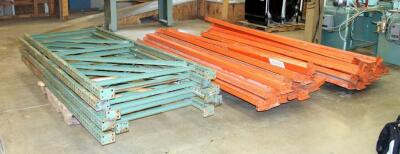 "Heavy Duty Pallet Racking Including Upright Frames Qty 5, 116"" x 42"", And 10' Load Beams Qty 41"