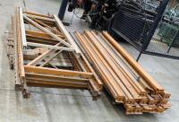 "Heavy Duty Pallet Racking Including Upright Frames Qty 4, 9' x 3', 92"" Load Beams Qty 21, And Rack Clips Qty 2 Boxes - 2"