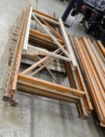 "Heavy Duty Pallet Racking Including Upright Frames Qty 4, 9' x 3', 92"" Load Beams Qty 21, And Rack Clips Qty 2 Boxes - 3"