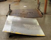 "Diamond Plate Dock Ramps, Qty 2, 55"" x 47"" And 60"" x 78"", Bidder Responsible For Proper Removal"