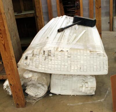 "Styrofoam Packing Material, Various Types, 97"" Long"
