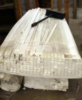 "Styrofoam Packing Material, Various Types, 97"" Long - 2"