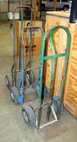 "Heavy Duty Metal Floor Dollies, Qty 3, Heights Measure 46"" To 55"""