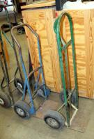 "Heavy Duty Metal Floor Dollies, Qty 3, Heights Measure 46"" To 55"" - 2"